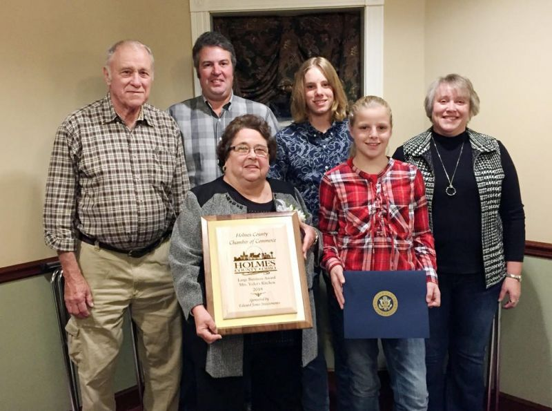 A 'dream come true' for Mrs. Yoder's Kitchen as they are honored with award for Large Business of the Year