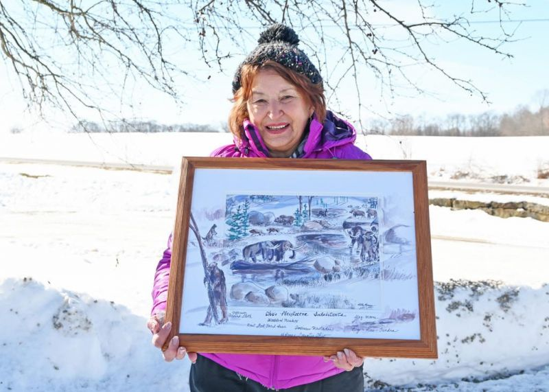 Artist contributes to Killbuck Valley Natural History Museum