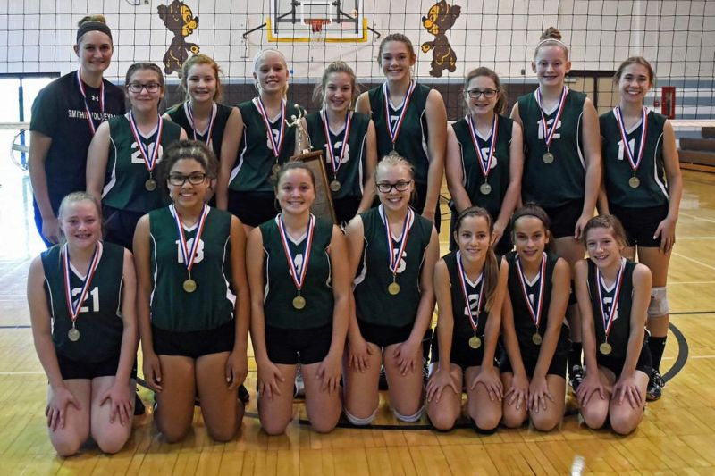 Green eighth-graders win volleyball title