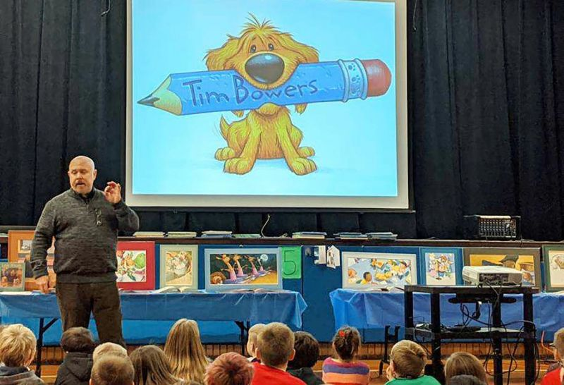 Killbuck students get a first-hand lesson in illustrating