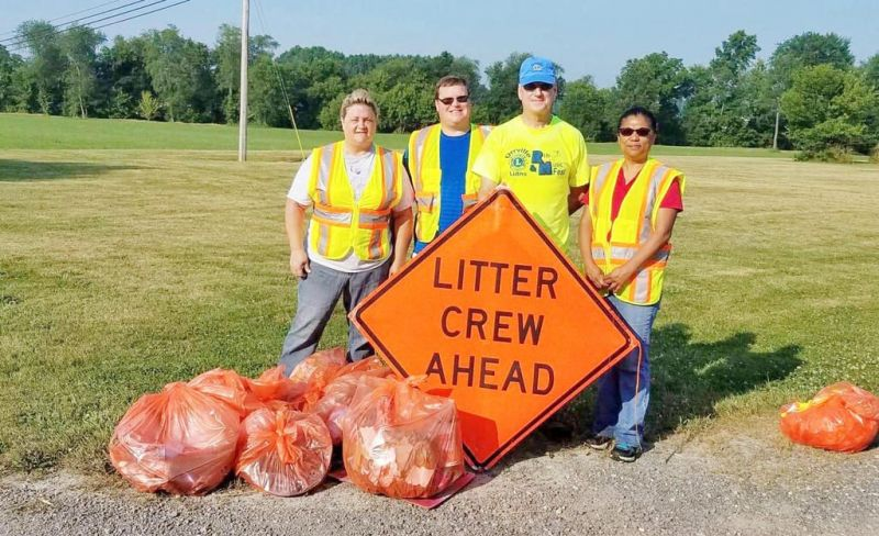 Lions Club cleans up litter