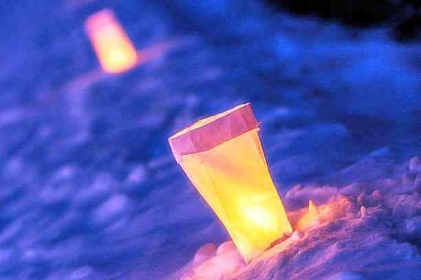 Luminary Trail Walk set at Norma Johnson Center