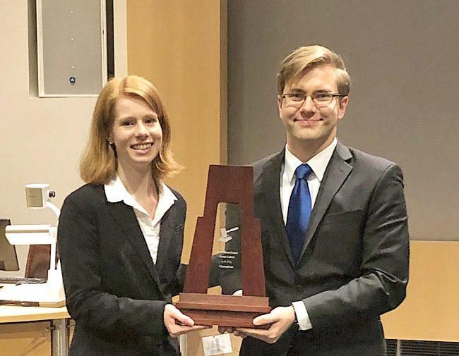 Moot court duo wins the Great Lakes Regional crown