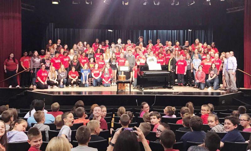 Music unites 2 different cultures as Akron East visits Hiland High