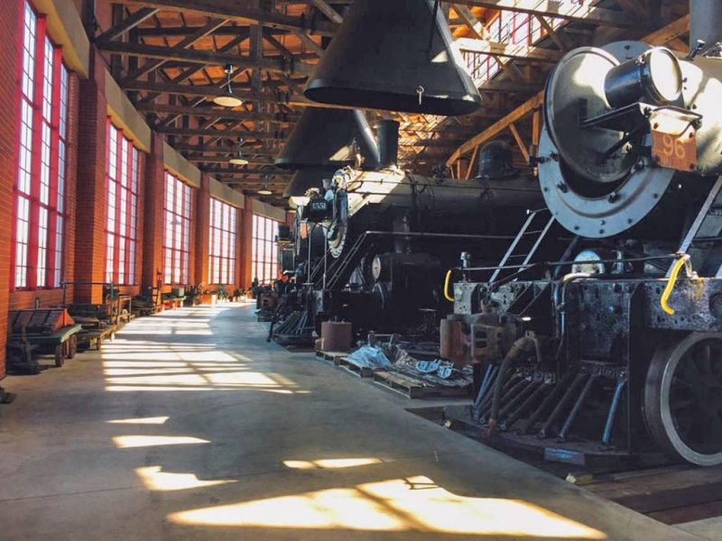 Tour the Age of Steam Roundhouse | The Bargain Hunter Early Locomotive Roundhouse Design on round building design, dairy cow barn design, modern home interior design,