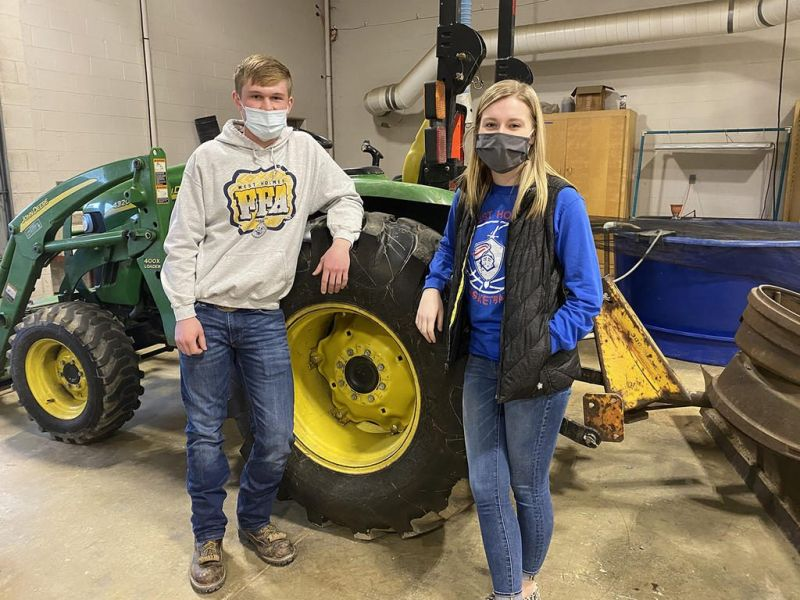Pennell passes WHHS FFA torch to Crilow