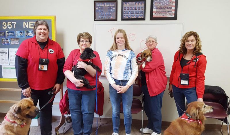 Puppies are in spotlight for the Girl Scout Silver Award