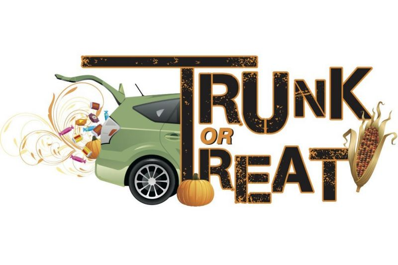 Trunk or Treat event with Fall Stone Soup Fest set