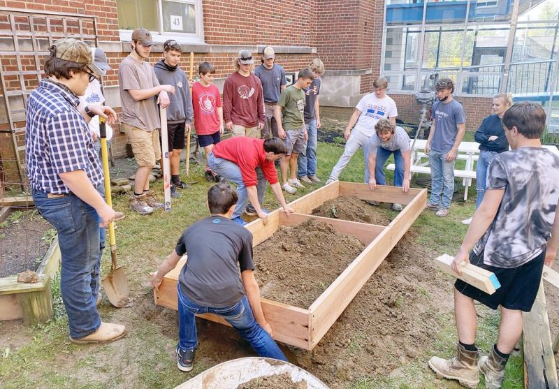 West Holmes students lend many hands to Garden of Hope project