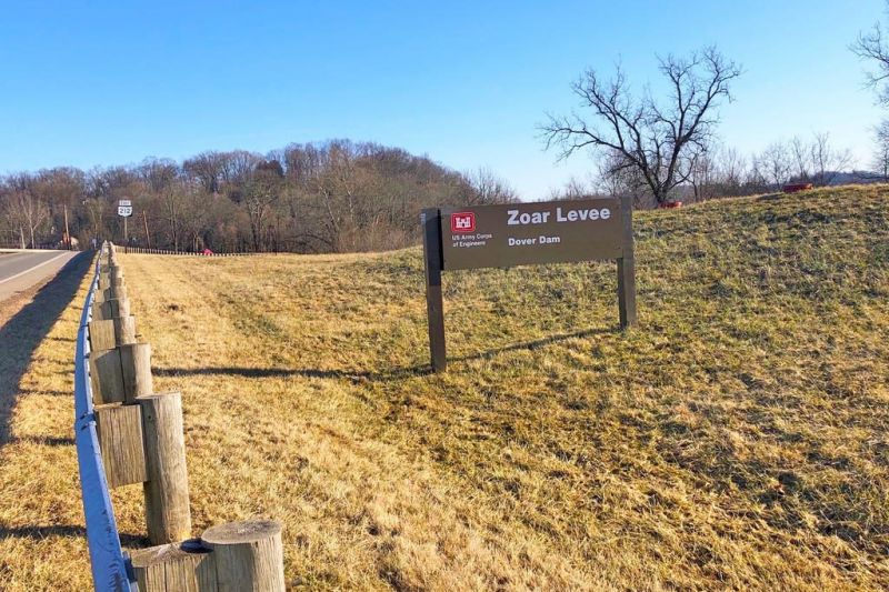 Work on the Zoar Levee is delayed